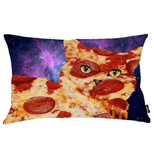 i FaMuRay Decorativa per Cuscino (Insert & Cover), Pizza Cat King Size 20x36