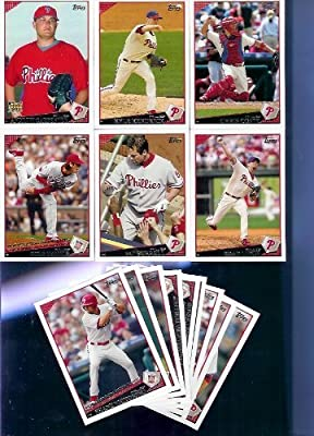 National League Champions - 2009 Topps Philadelphia Phillies Complete Team Set - 24 Cards (All Cards from Series 1 & 2) - Includes Lidge, Victorino, Utley, Howard, Hamels, Coste and More!