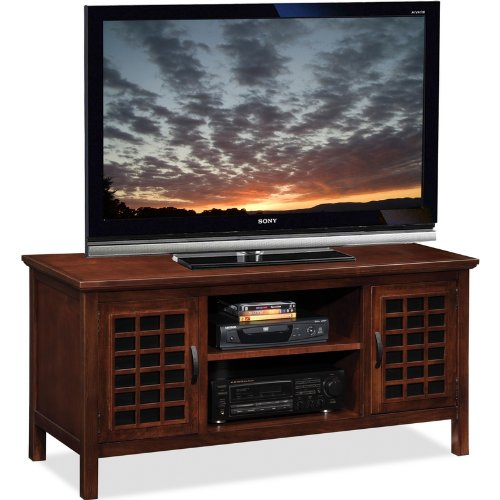 buy low price leick furniture riley holliday leaded glass 50 inch corner tv stand b0094qtojo. Black Bedroom Furniture Sets. Home Design Ideas
