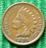 Indian Head Cent / Penny Mixed Date Circulated Good or Better in Coin Flip