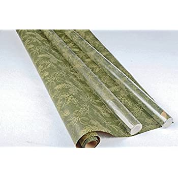 Retro Christmas Kraft Wrapping Paper Sets (Reindeer-Mistletoe-SodaShoppe on Brown Kraft)