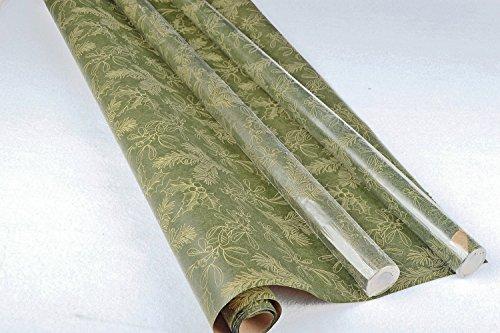 Retro Christmas Kraft Wrapping Paper Sets (Reindeer-Mistletoe-SodaShoppe on Brown Kraft) 1