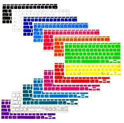 The Friendly Swede (TM) Bundle of 14 Colorful Semi-Transparent Silicone Keyboard Skins/Covers for Apple MacBook Air 11
