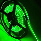 SUPERNIGHT (TM) High Density Green Waterproof Led Light Strip, SMD 3528, 600 LEDs 5 Meter or 16 Feet LED Strip 120 Leds/M