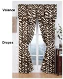 Brown Zebra Curtain Panel Pair