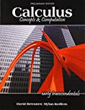 img - for Calculus: Concepts AND Computation Preliminary Edition book / textbook / text book