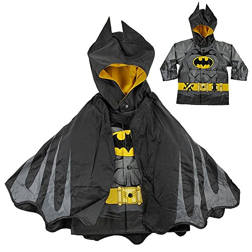 Western Chief Boy'S Batman Caped Crusader Raincoat, Black, 4T front-905924
