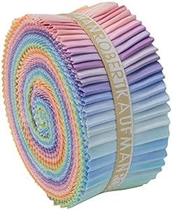 Robert Kaufman 46 Piece Fabric Jelly Roll Patchwork