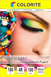 Colorite Inkjet High Glossy Photo Paper 180 Gsm 4R (4