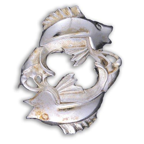 Zodiac Brooch Silver - Pisces