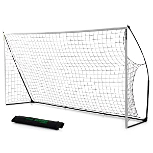 Kickster Academy Ultra Portable Football Goal - Yellow, 12 x 6 ft