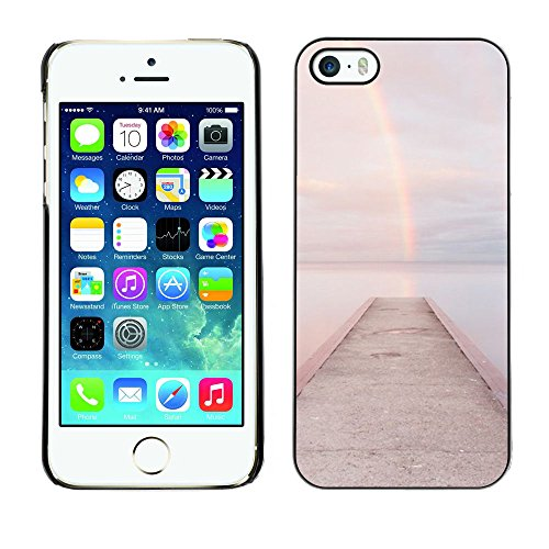 For Apple iPhone 5 / iPhone 5S Case , Beach Dock Jetty Water - Colorful Pattern Hard Back Snap-On Cover Case Skin Mobile Phone Shell Bumper