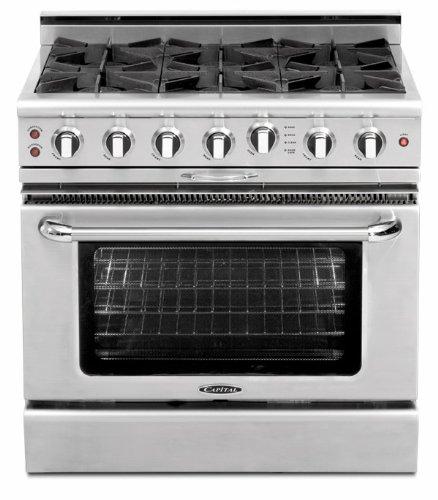 CGSR366N-Capital-Culinarian-Series-36-Self-Clean-Gas-Range-with-6-Open-Burners-Stainless-Steel