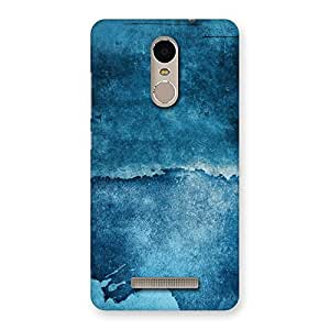 Stylish Blue Paint Print Back Case Cover for Xiaomi Redmi Note 3
