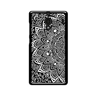Vibhar printed case back cover for Xiaomi Redmi 1s BlackFlower