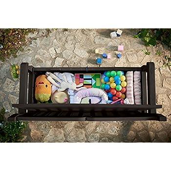 Keter Eden 70 Gallon All Weather Outdoor Patio Storage Garden Bench Deck Box, Brown/Brown