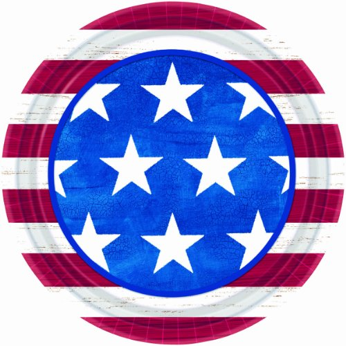 Americana Dinner Plates (50) Party Supplies - 1