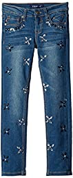 Vigoss Big Girls\' All Over Embellished Star Jean, True Blue, 7