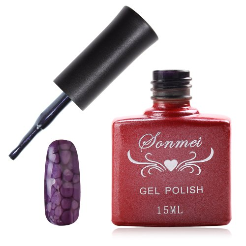 Janmei 1X 15Ml Soak Off Snake Skin Nail Art Tips Polish Led Uv Gel Lamp Diy Q31 Dark Purple