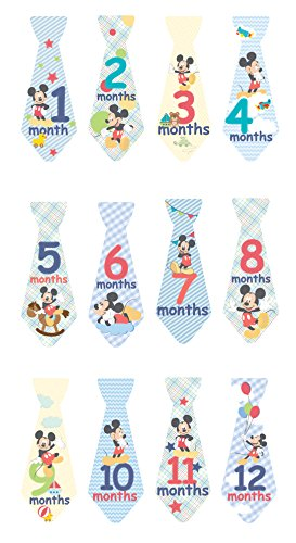 Kids Preferred Disney Milestone Tie Stickers, Mickey Mouse