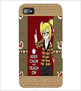 PrintDhaba Quote D-5660 Back Case Cover for BLACKBERRY Z10 (Multi-Coloured)