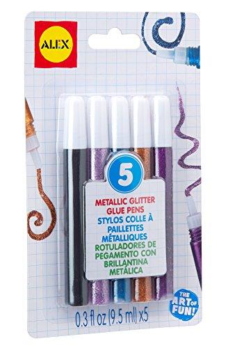 ALEX Toys Artist Studio 5 Metallic Glitter Glue Pens