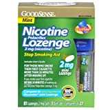 Good Sense Mini Nicotine Polacrilex 2mg (Nicotine) Lozenge, Mint, 81 Count