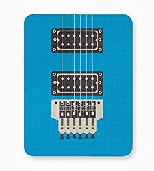 PosterGuy Guitar Close-Up View (Blue) Illustration Mouse Pad