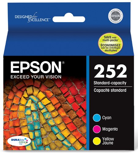 Epson T252520 DURABrite Ultra Standard-Capacity Color Ink Cartridge, Multipack