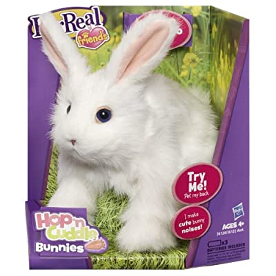 FurReal Friends Hop `N Cuddle White Bunny