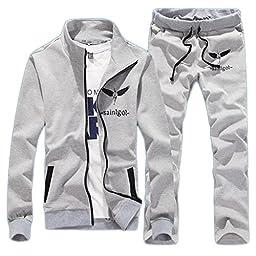 Magiftbox Men\'s Casual Long Sleeve Jackets & Pants Jogging Tracksuits