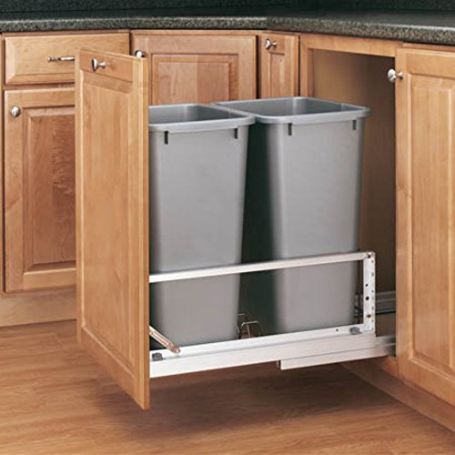 Rev-A-Shelf - 5349-2150DM-217 - Double 50 Quart Pullout Waste Containers