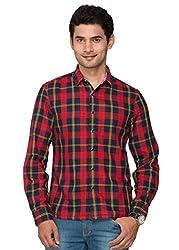 Identiti Men's Full Sleeves Shirt (Multi-Coloured, 38)