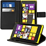 kwmobile Elegant synthetic leather case for the Nokia Lumia 1020 with magnetic fastener and stand function in Black