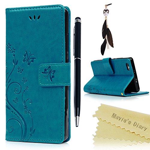 huawei-p8-lite-custodia-pelle-morbido-blu-maviss-diary-pu-leather-stampatashock-absorption-bumperwal
