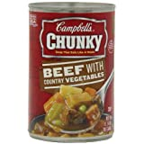 Campbell's Chunky Beef with Country Vegetables Soup, 10.75 Ounce Cans (Pack of 12) ~ Campbell's