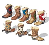 Collections Etc - Collectible Western Cowboy Boots Ornament Set