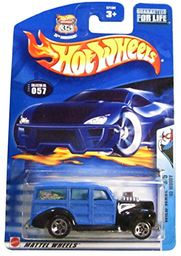 Hot Wheels 2003 Wild Wave '40 Woody 3/5 057 BLUE 1:64 Scale - 1