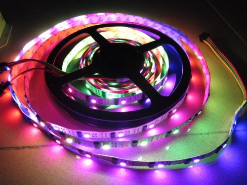 1M Meter Ws2801 Led Digital Strip,Led Pixel Strings,32Pcs Ic And 32Pcs 5050 Smd Rgb Addressable Color Non-Waterproof
