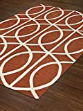 Modern Contemporary Geometric Hand Tufted Area Rug PUMPKIN Approx 9'x13' -Universal Rugs - DAL 77