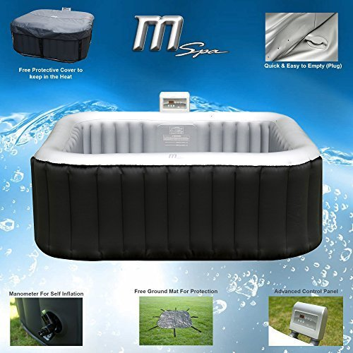 MSPA Alpine Luxury Inflatable 2+2 Jacuzzi Hot Tub Spa System