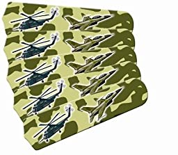 Ceiling Fan Designers 52SET-IMA-AMAF Freedom Camo Military 52 In. Ceiling Fan Blades Only