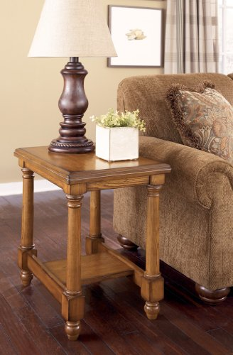 Cheap Holfield Burnished Brown Chair Side End Table (T530-7)