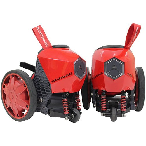 ACTON R6 RocketSkates - The World's First Smart Electric Skates (Red)