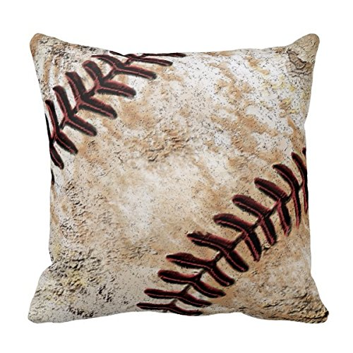 Decors Jersey Number and Name on Vintage Baseball Pillow 1