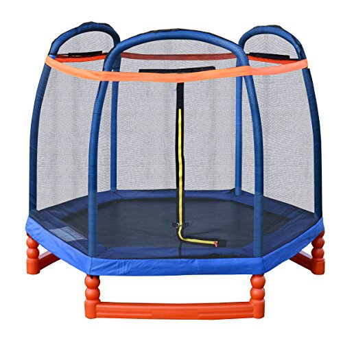 Giantex-7FT-Trampoline-Combo-w-Safety-Enclosure-Net-Indoor-Outdoor-Bouncer-Jump-Kids