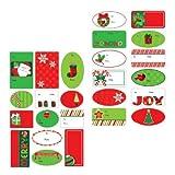 【クリスマス雑貨】タグ ホリデーファンパッド・100個入(1パック)  / お楽しみグッズ(紙風船)付きセット [おもちゃ&ホビー]