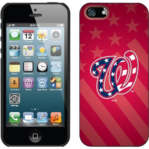 Great Price Washington Nationals - USA Red design on a Black iPhone 5 Thinshield Snap-On Case by Coveroo
