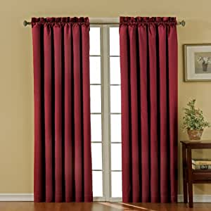 Eclipse Canova 42-Inch by 84-Inch Thermaback Blackout Panel, Burgundy