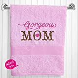 Little Pipal Personalized GORGEOUS MOM BATH TOWEL - PINK